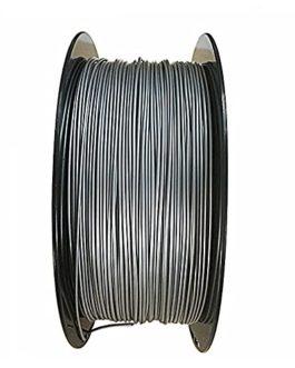 Filament de Pla Métal 1.75 mm 3D Imprimante Filament Silver 1 kg (2,2 lb) avec poudre métallique ajoutée