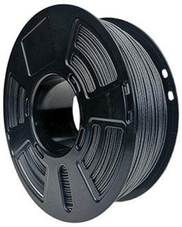 Filament de fibre de carbone PETG, filament d'impression 3D 1.75mm Ajout de 20% de fibre de carbone courte, haute dureté…