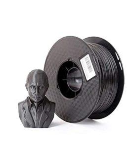 Filament de fibre de carbone PLA Filament de 1,75 mm Filament d'imprimante 3D 1kg (2.2LB) Formule de fibre de carbone…