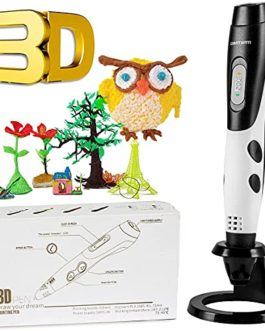 GIANTARM stylo d'impression 3D professionnel stylo 3D + filament PLA 12 couleurs, température/vitesse réglable, cadeaux…