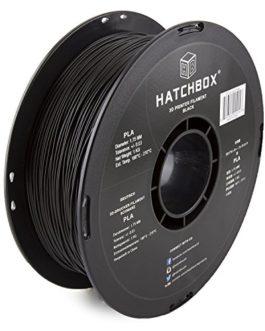 HATCHBOX 3D PLA-1KG1.75-BLK PLA 3D Printer Filament, Dimensional Accuracy +/- 0.05 mm, 1 kg Spool, 1.75 mm, Black by…