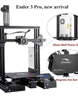 Imprimante 3D Creality Ender 3 Pro (Ender 3) améliorée avec Plaque de Surface de Construction Cmagnet de Mise à Niveau…