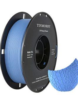 Matte Filament PLA 1.75mm, TINMORRY PLA Matériaux d'impression 3D en Filament Pour Imprimante 3D, 1kg 1 Spool, Matte…