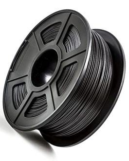PLA Carbon Fiber Filament 1.75mm Carbon Fiber Reinforced Polylactic Acid Material 1kg 2.2lb Spool Black Filament Carbon…