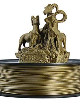 PLA Metal Bronze Filament 1.75mm, 3D Printer Filament 0.5kg, Real Bronze Filament, 60% Polylactic Acid+40% Metal Powder