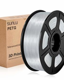 SUNLU 3D Printer Filament PETG transparent, PETG Filament 1.75 mm,Low Odor Dimensional Accuracy +/- 0.02 mm, 3D Printing…