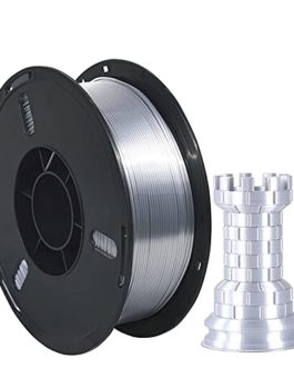 Silk Metal PLA Filament 1.75mm, Silky Metallic 3D Printer Filament PLA, Dimensional Accuracy +/- 0.03mm, 1KG (2.2 LBS…