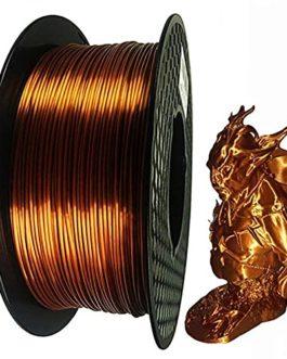 Silk Red Copper PLA Filament Imitation Metal Color Polylactic Acid Material 3d Printer Filament 1.75mm 0.5kg Spool, No…