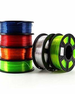 XIAOLUTIANM Accessoires d'imprimante 6pcs 3D Printer Filament PETG 1.75mm 1 kg / 2,2 LB en Plastique Filament…