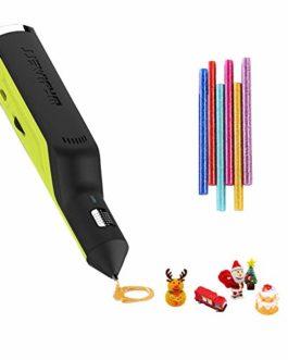 OBEST Stylo 3D, stylo à colle thermofusible, fonctionnement sans fil rechargeable et vitesse réglable, jouets de bricolage créatifs adaptés à l'artisanat et à la modélisation, cadeaux pour enfants.