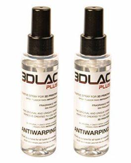 Pack 2 Bouteilles 3DLAC Plus Adhésif Fixatif pour l'Impression 3D de l'Imprimante Double Adhérence Antiwarping Filament…