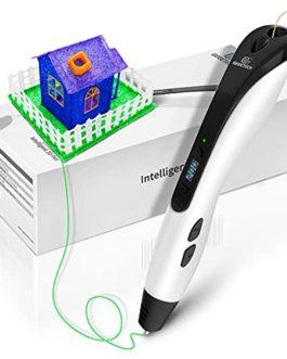 Stylo 3D, stylos d'imprimante 3D GEEETECH avec 8 niveaux de vitesse différents, écran LCD intelligent pour stylo 3D…