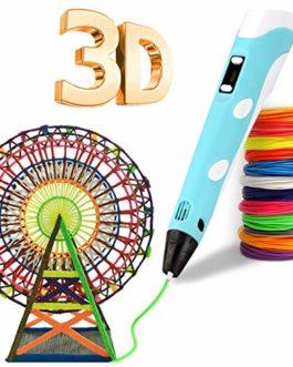 Stylo-plume 3D, stylo à impression 3D avec 12 couleurs de filament PLA, compatible avec PLA et ABS, écran LCD, stylo 3D…